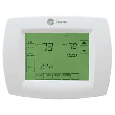 Trane XL803 thermostat.